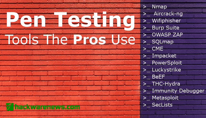 Pen Testing Tools The Pros Use
